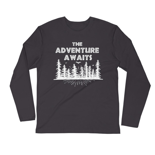 Long sleeve the adventure awaits Wooden 9