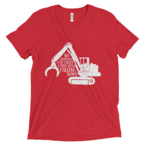 No lumberjack ever talked a tree into falling down t shirt Wooden Nine Apparel