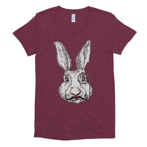 Women's T Shirt Wild Rabbit Alice in Wonderland style