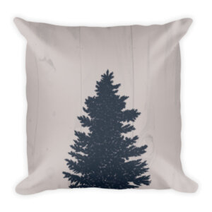 Wooden Nine tree with wooden pine background pillow