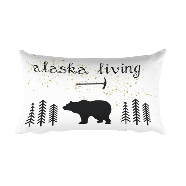 Alaska Living Rectangle Pillow with stuffing and cover