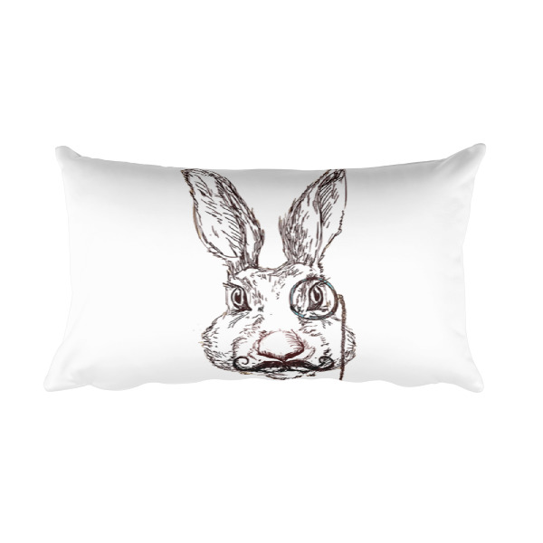 Wild Hare Alice in Wonderland Pillow Home Decor Wooden Nine