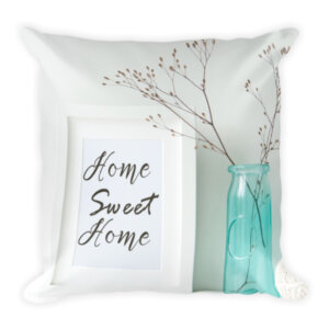Home sweet home pillow mason jar home decor