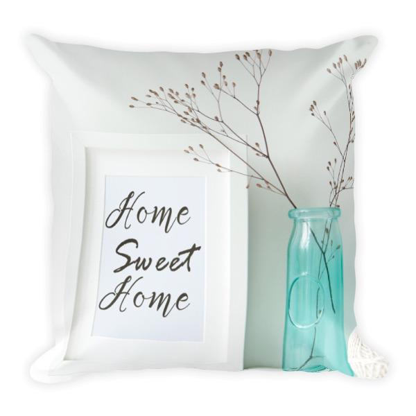 Home sweet home pillow mason jar home decor