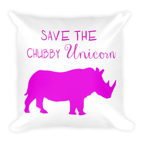 Save the chubby unicorn Funny pillow home decor wooden9