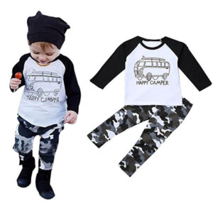 Happy Camper Toddler Romper Set Outfit
