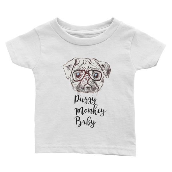 Puggy Monkey Baby Infant T Shirt