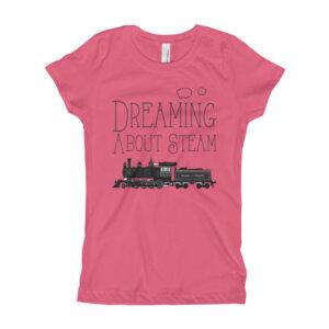Steam Train Locomotive Shirt for Girl's
