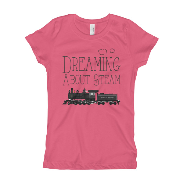 Steam Train Locomotive Shirt for Girl's